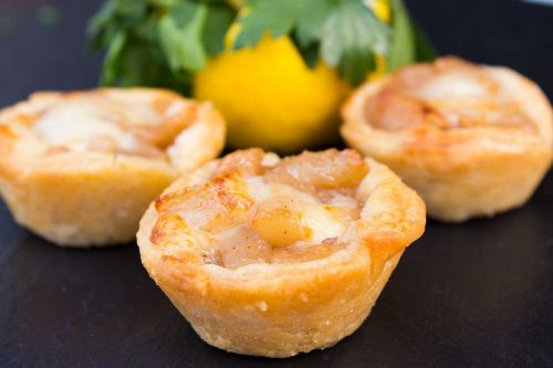 Brie and Pear Tarts