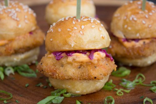 Crispy Fish Taco Sliders