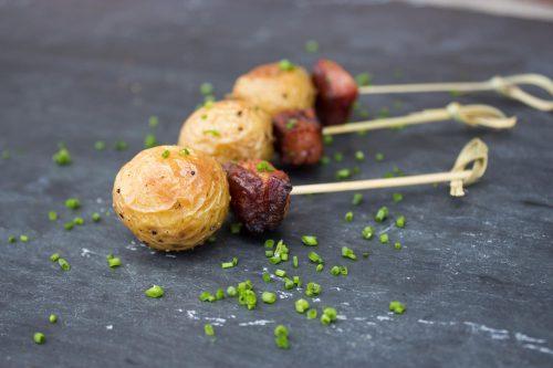 Roasted Potato & Bacon Skewers