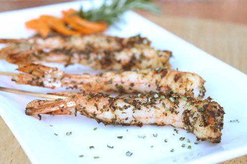 Grilled Rosemary Shrimp Skewers